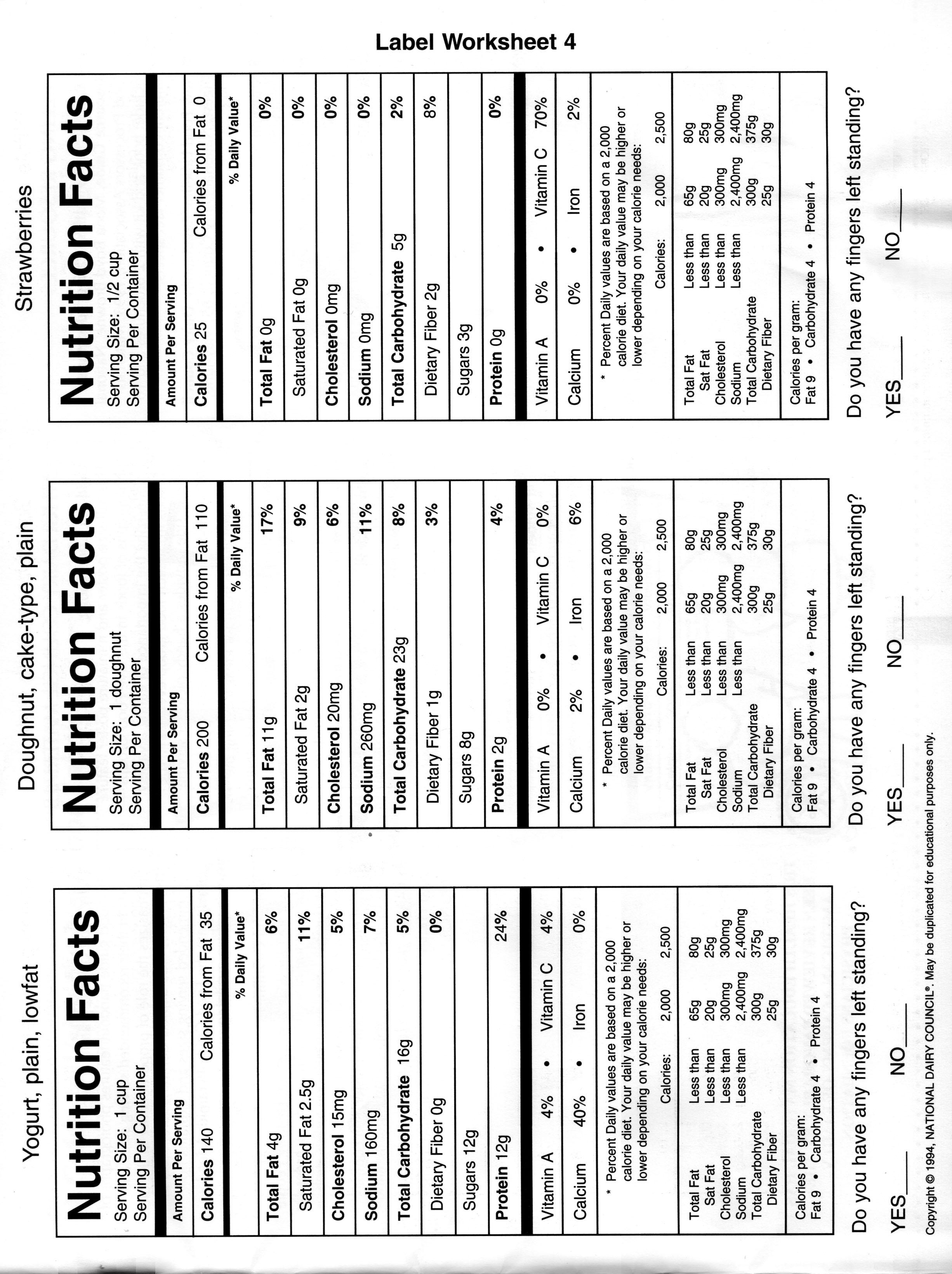 8 Best Images Of Reading Nutrition Labels Worksheet