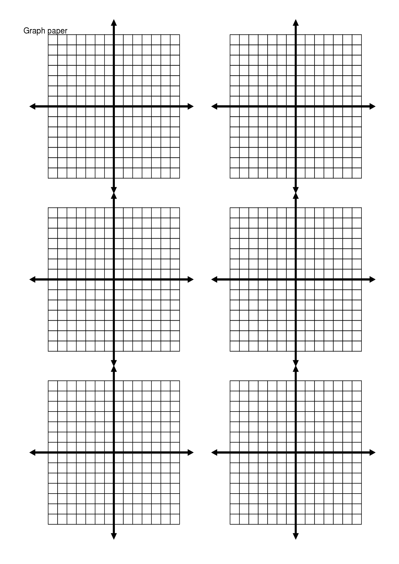 C Coordinate Grid Graph Paper Printable