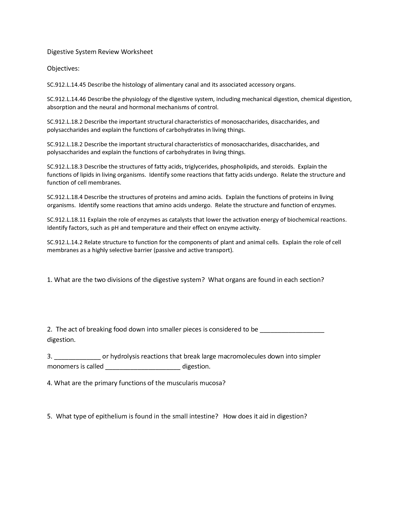 16 Best Images Of Carbohydrate Review Worksheet