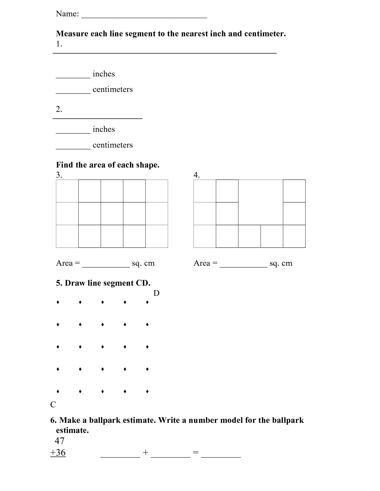 13 Best Images Of Everyday Math Grade 4 Worksheets