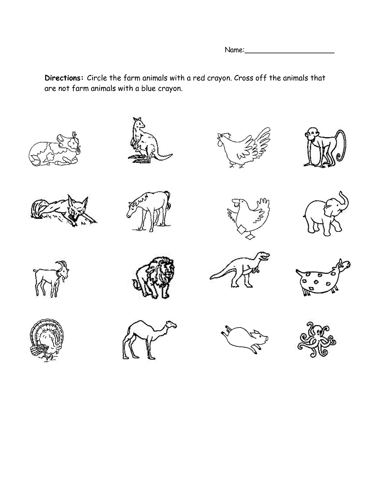 Baby Animals Worksheet