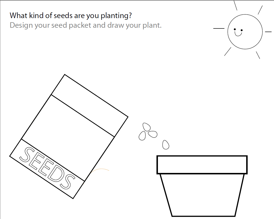 Parts Of A Plant For Kindergarten Activity