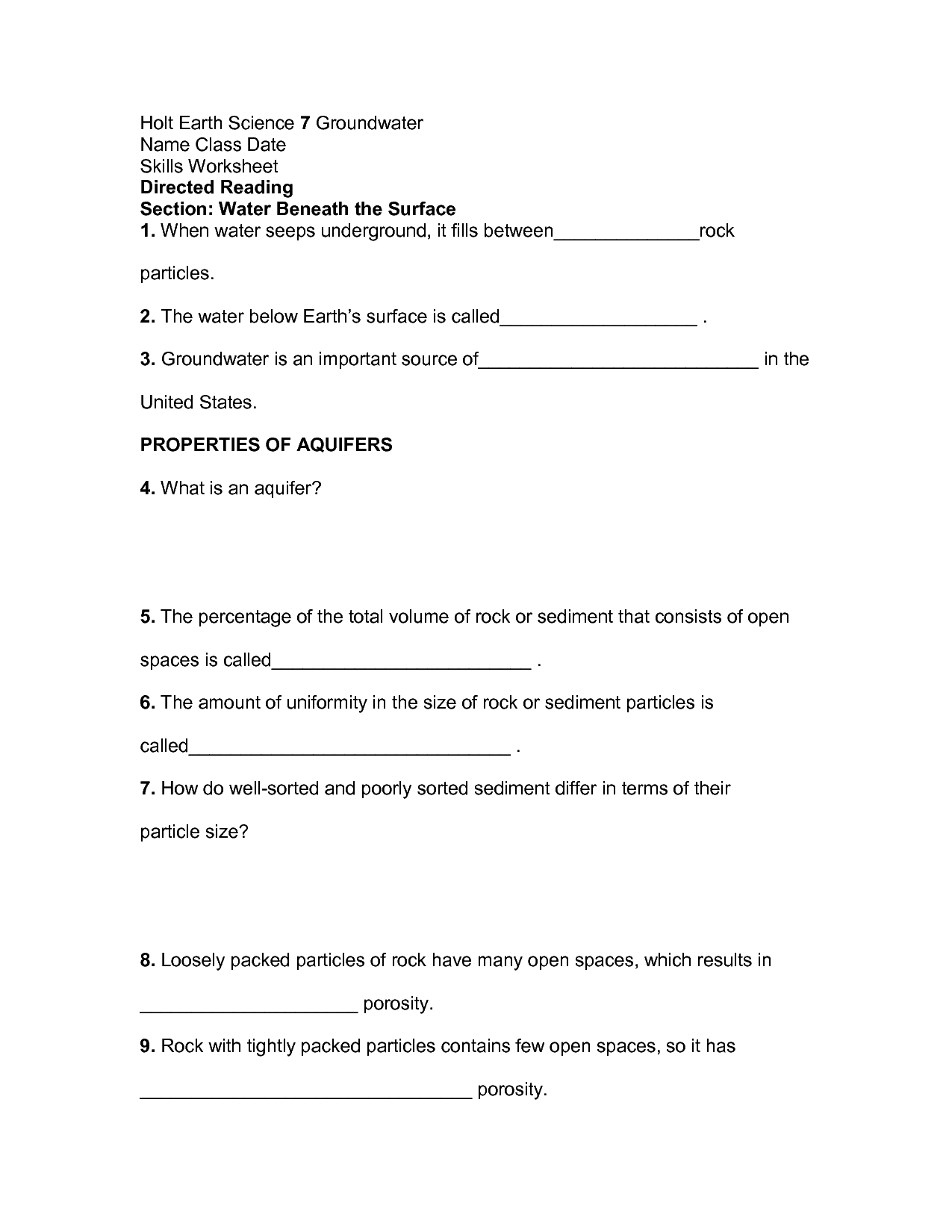 Holt Science And Technology Reinforcement Worksheet