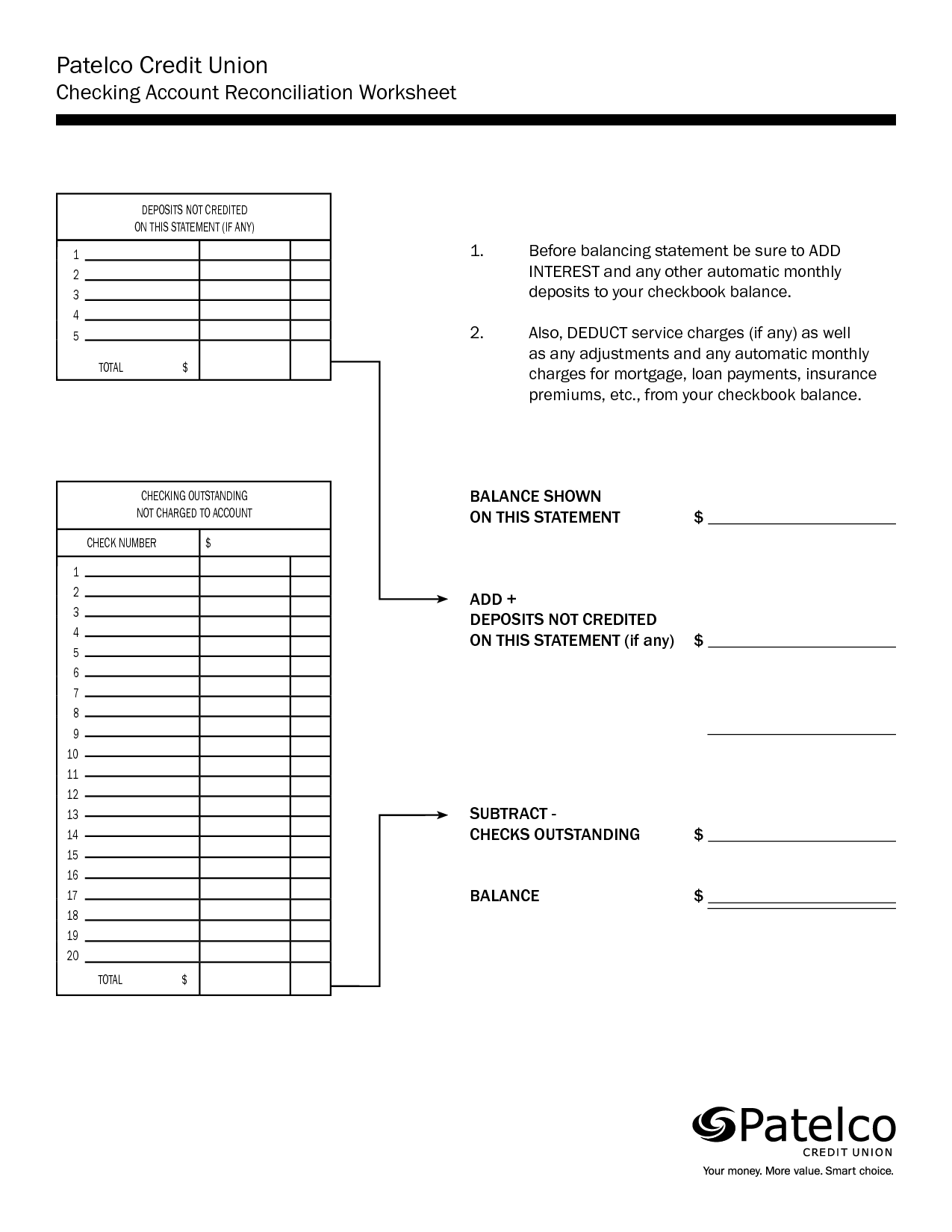 17 Best Images Of Checkbook Reconciliation Worksheet Printable