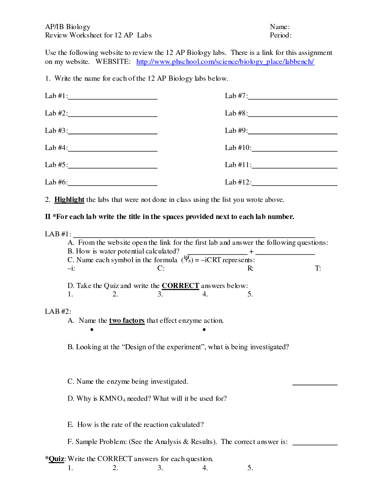 19 Best Images Of Biology Worksheets With Answers