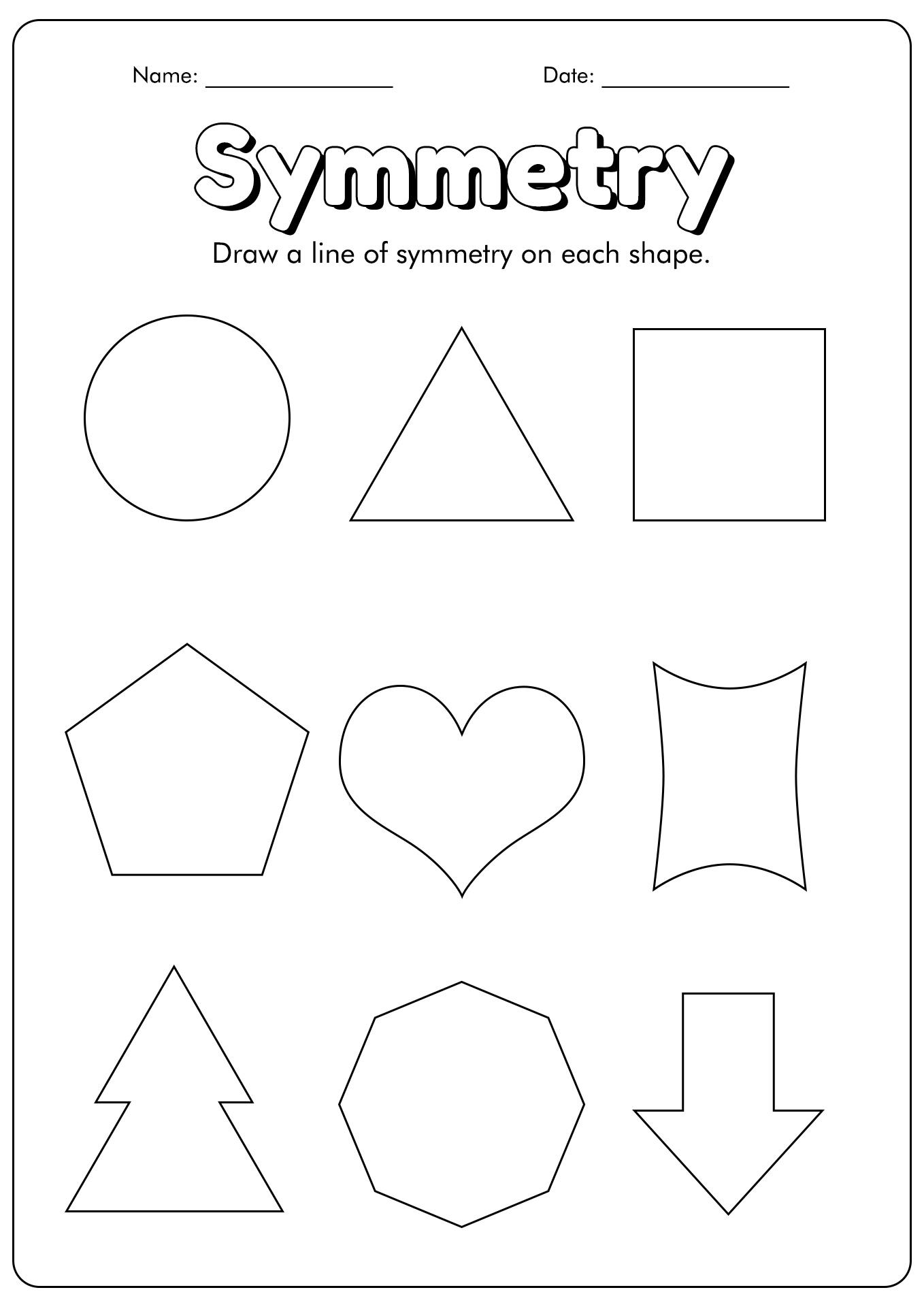 16 Best Images Of Symmetry Art Worksheets