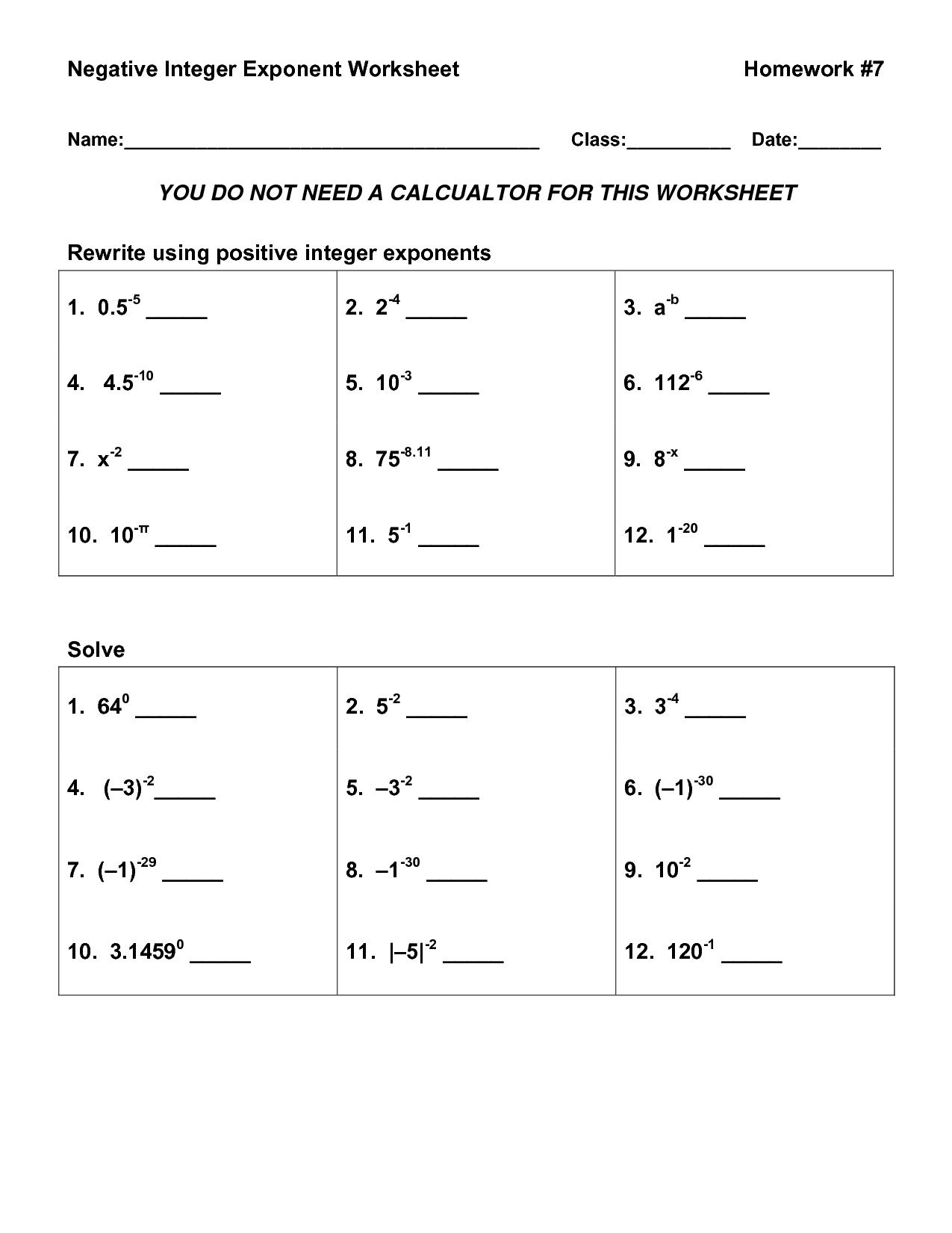 18 Best Images Of Easy Integers Worksheet