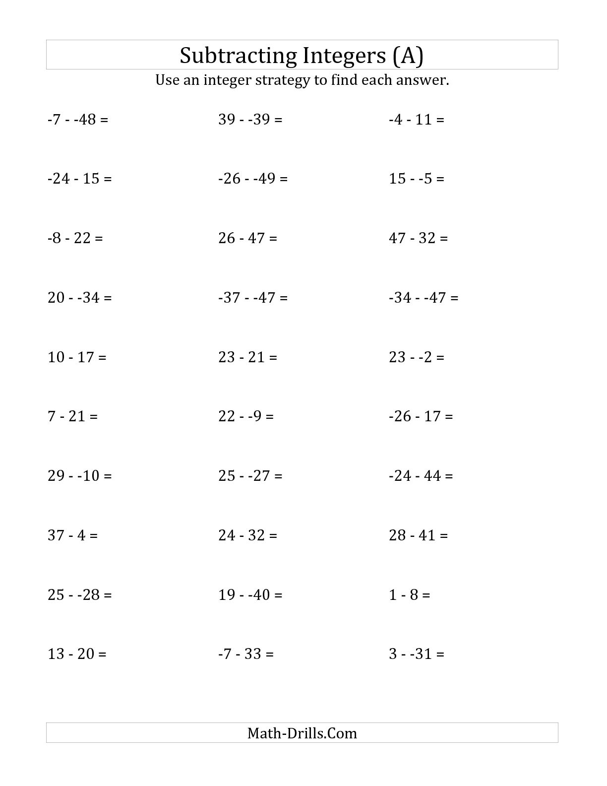 Rational Numbers Worksheet 6th Grade