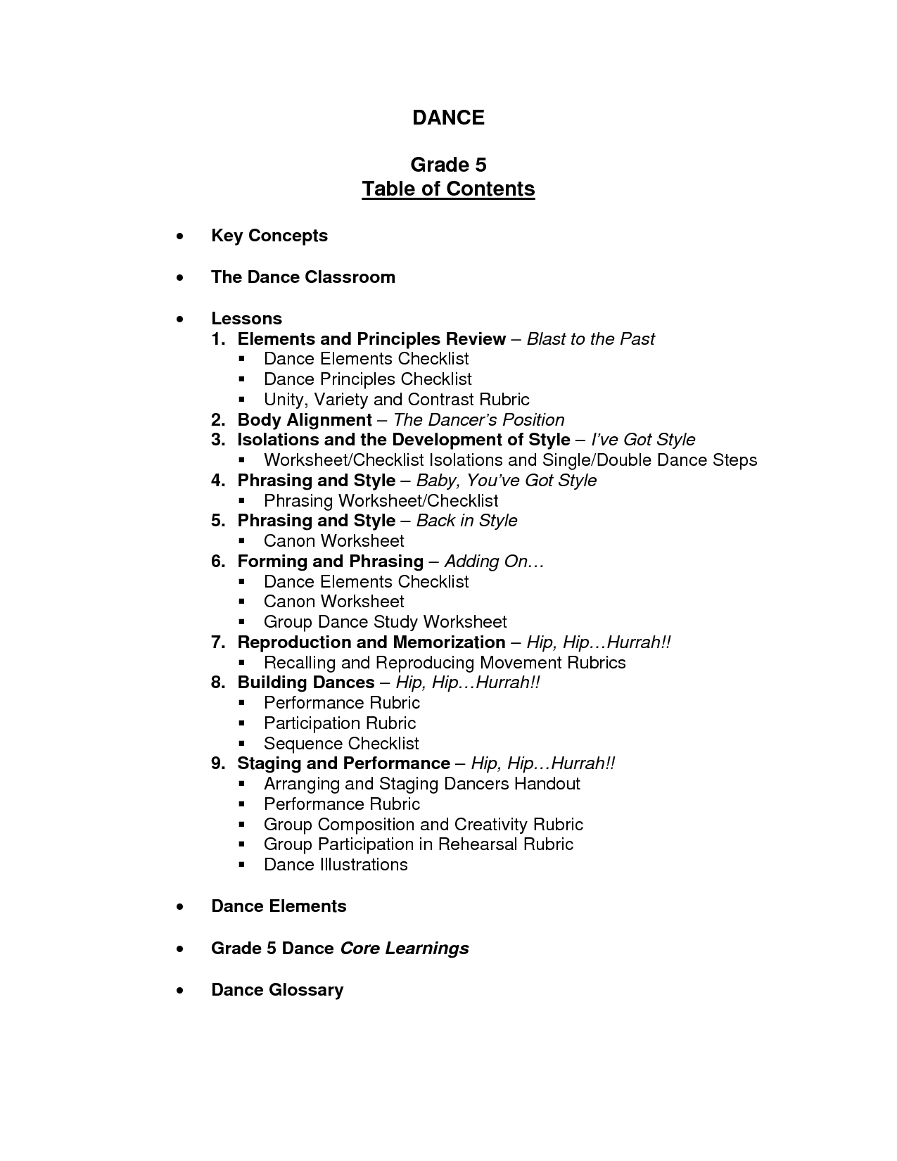 14 Best Images Of Reading Table Of Contents Worksheets