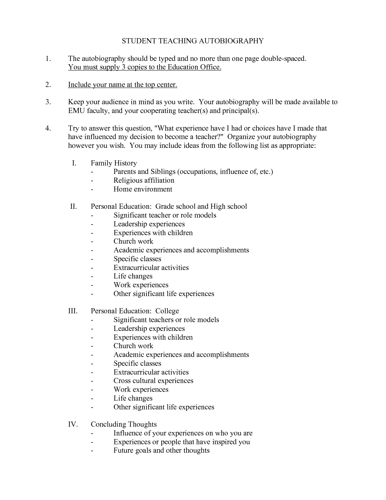 16 Best Images Of Autobiography Outline Worksheet