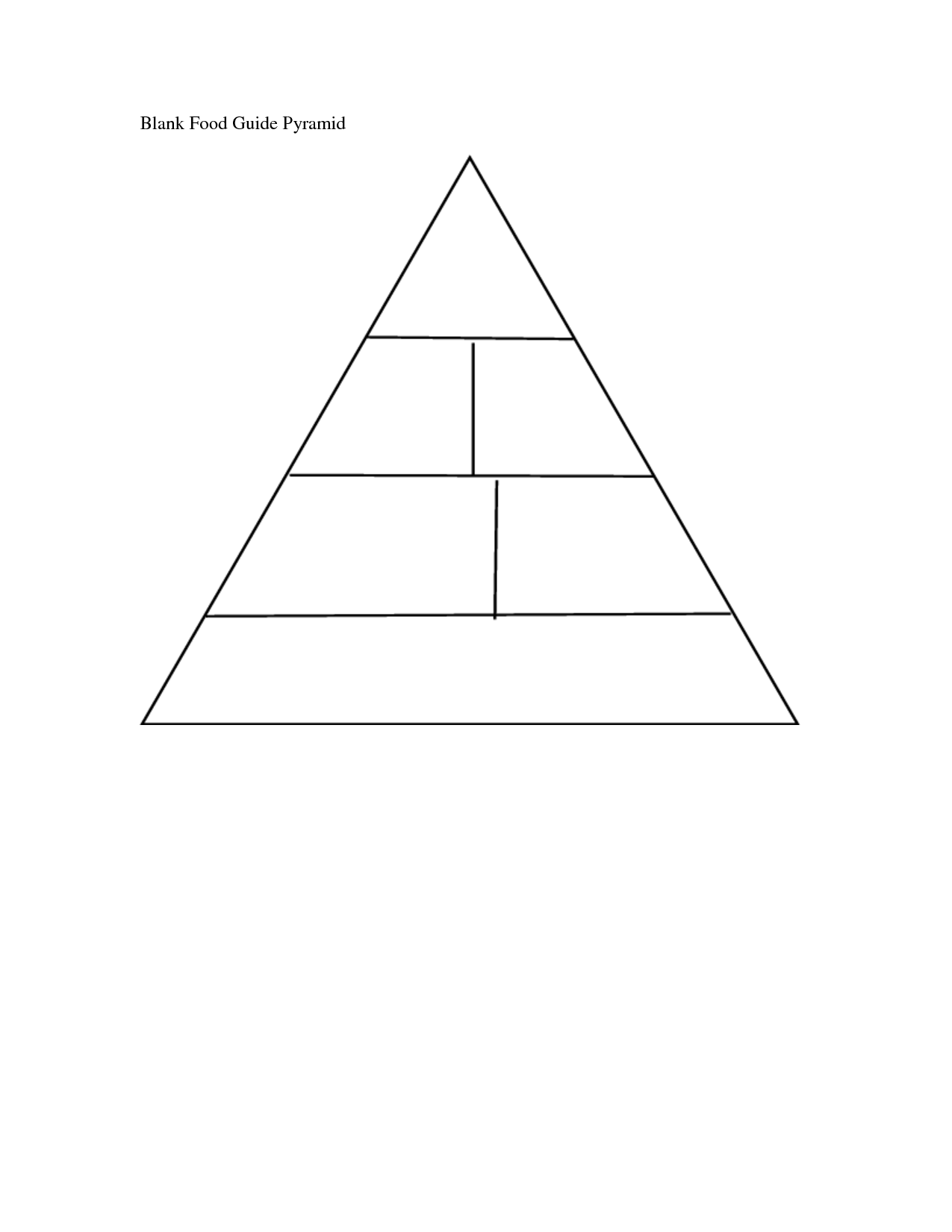 14 Best Images Of Printable Blank Food Pyramid Worksheets