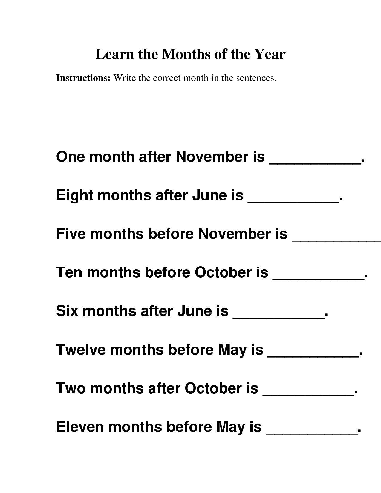 14 Best Images Of Months Of The Year Cut And Paste Worksheets
