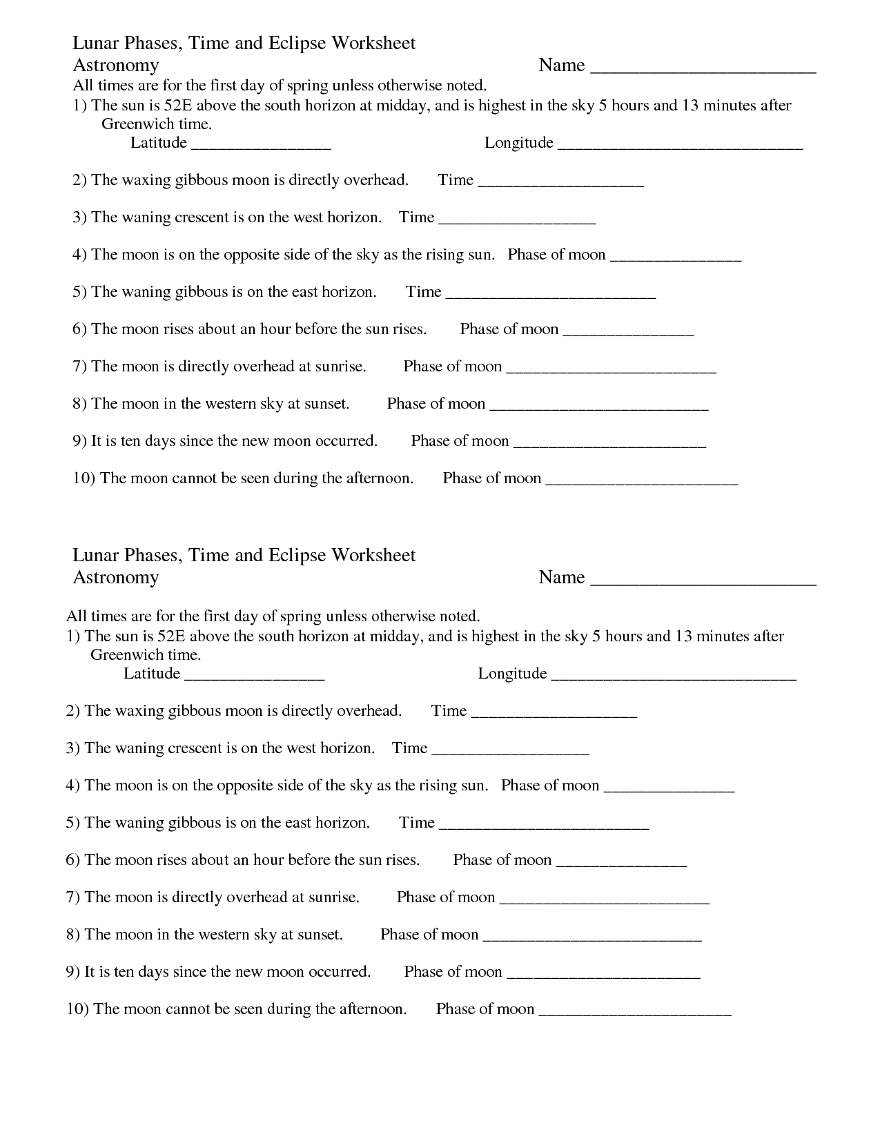 14 Best Images Of Time Cycle Worksheets