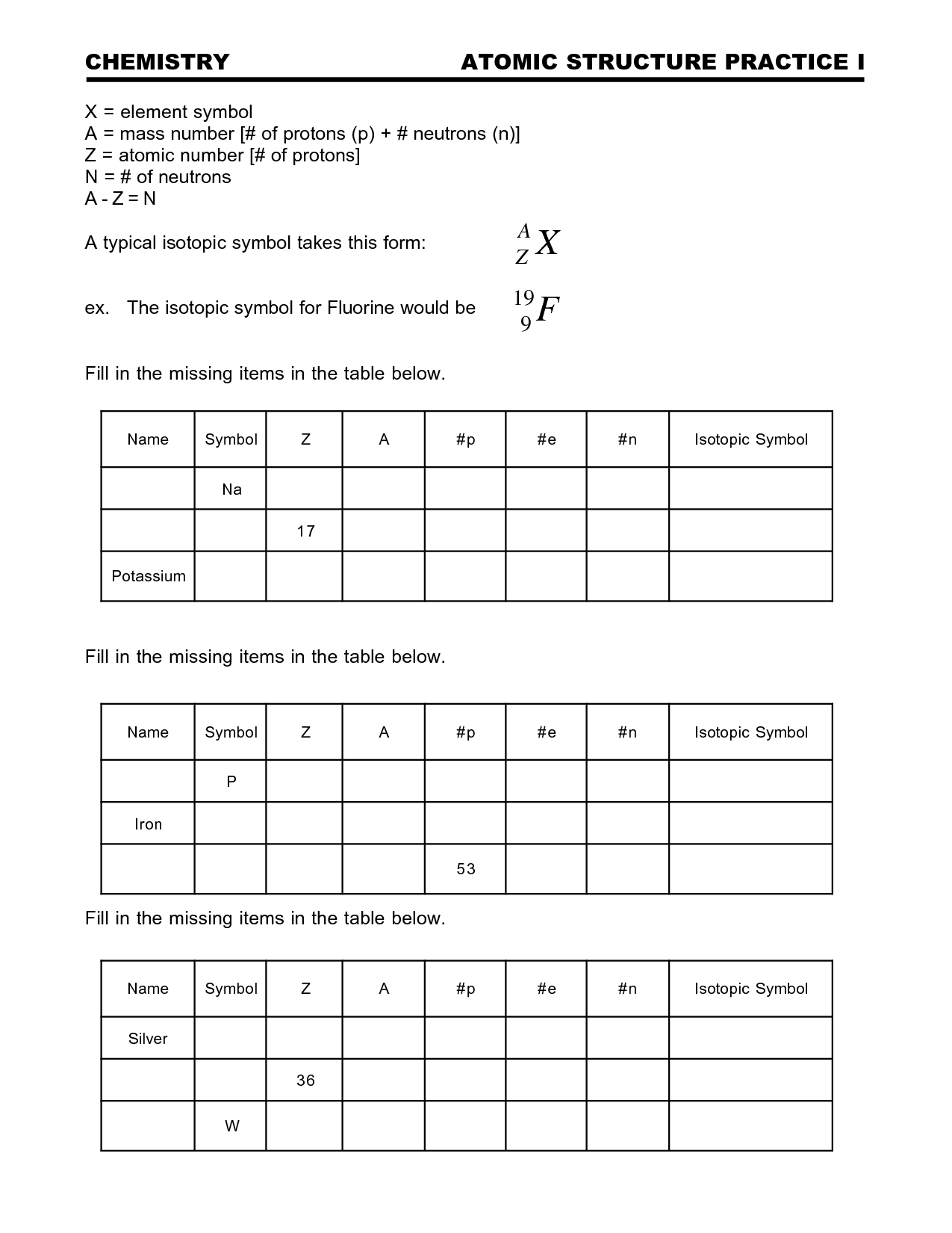 17 Best Images Of Atomic Structure Worksheet