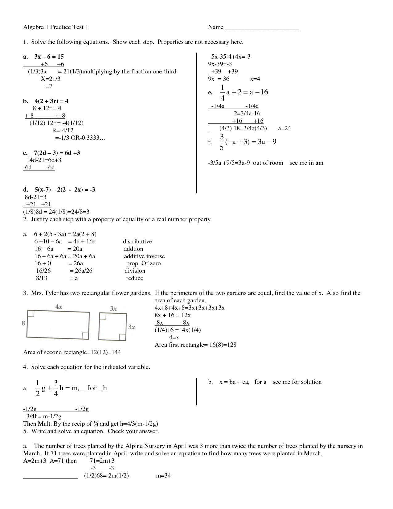 17 Best Images Of College Algebra Practice Worksheets