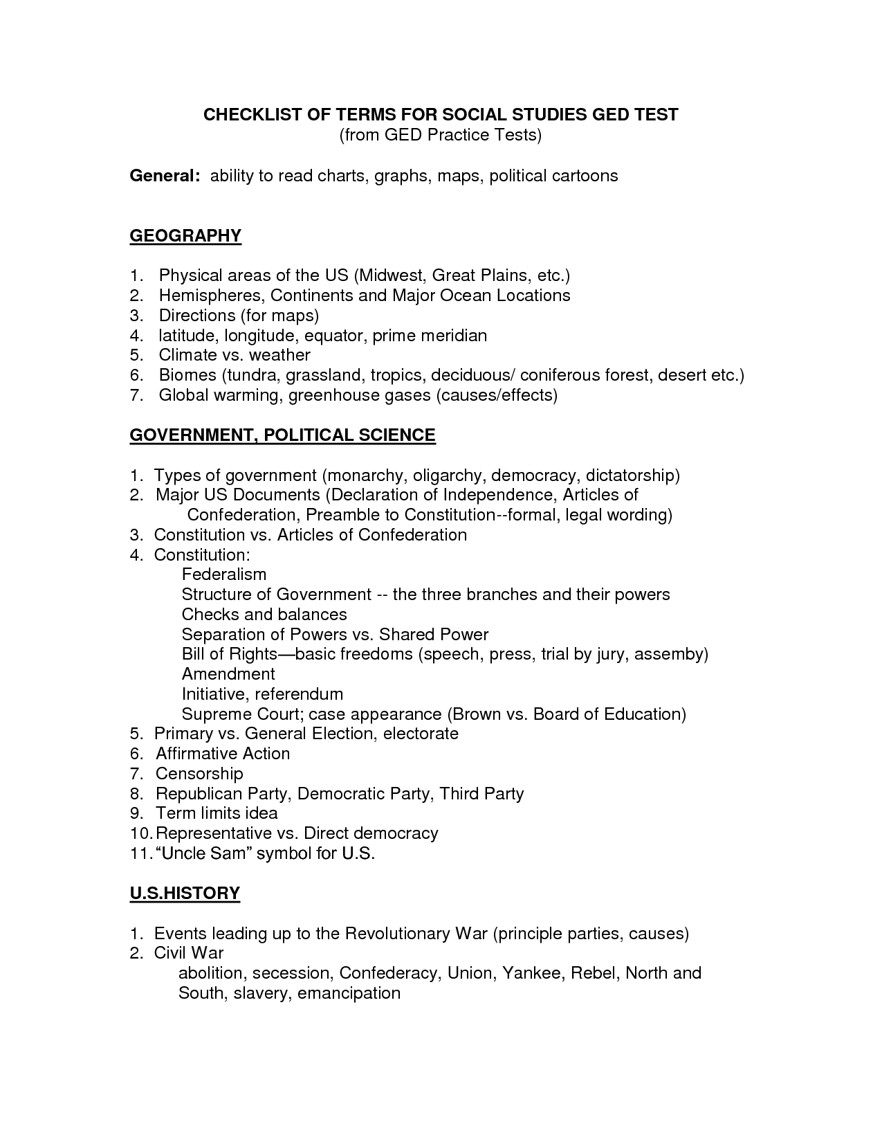 Social Stu S Worksheet To Print