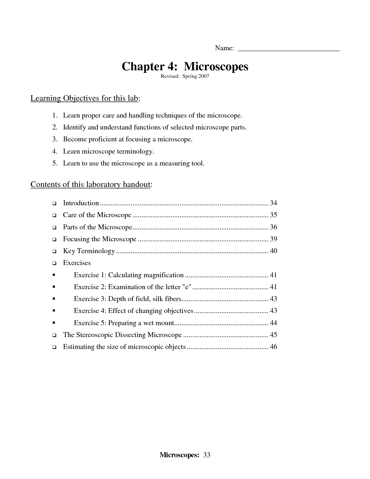 6 Best Images Of Compound Microscope Parts Quiz Worksheet