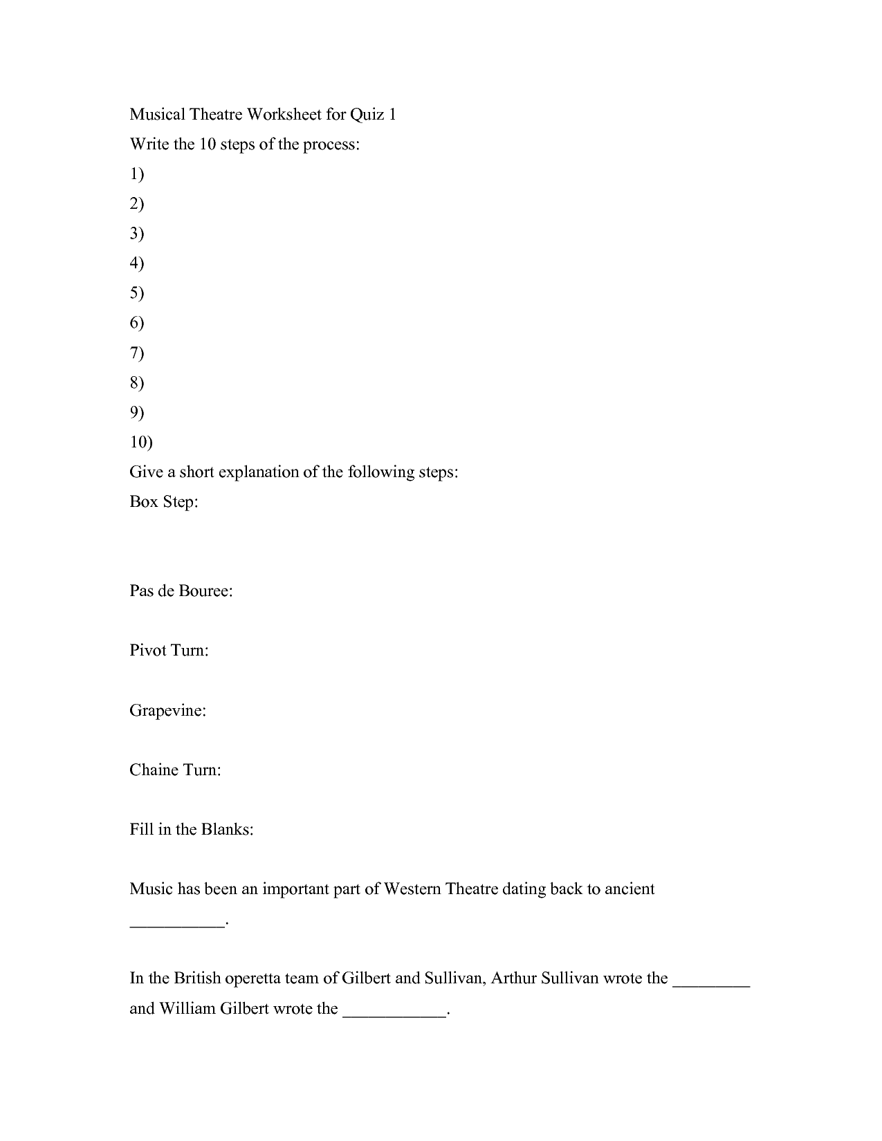 13 Best Images Of Drama Terms Worksheet