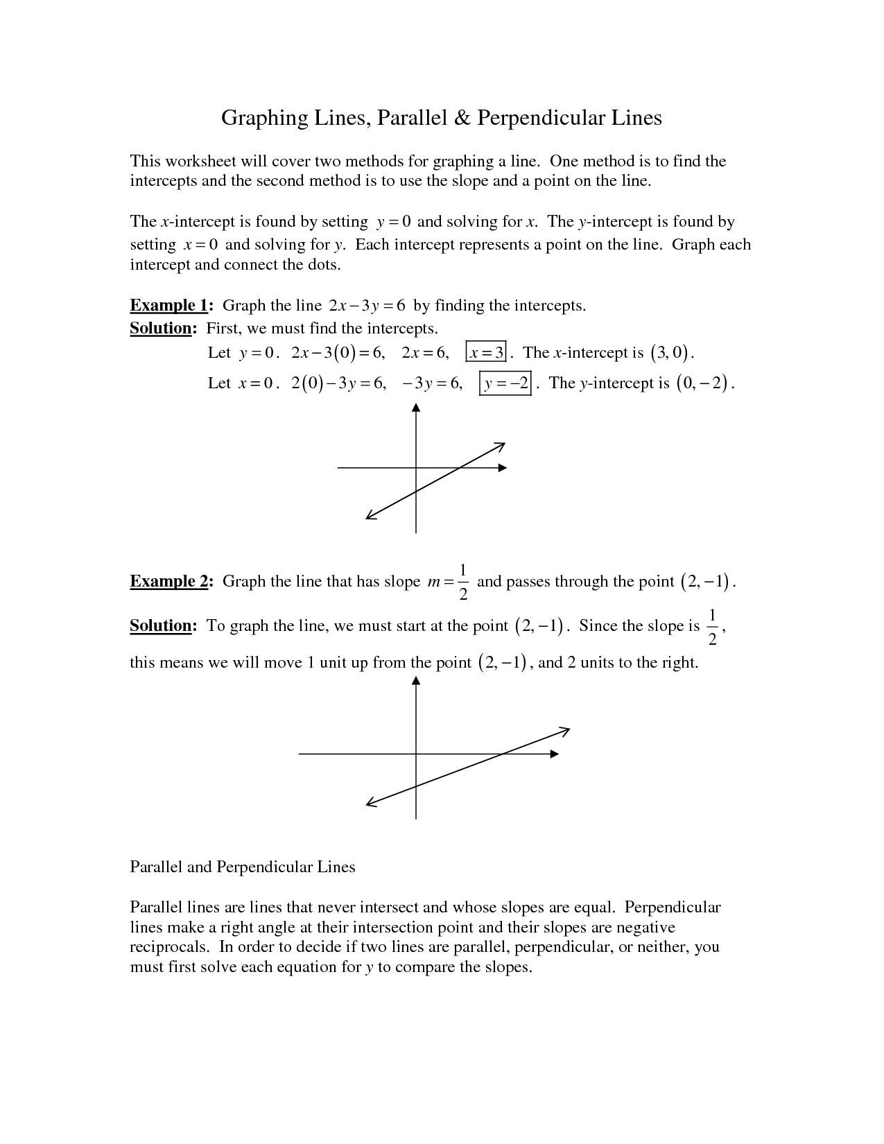 8 Best Images Of Parallel Perpendicular Lines Worksheet