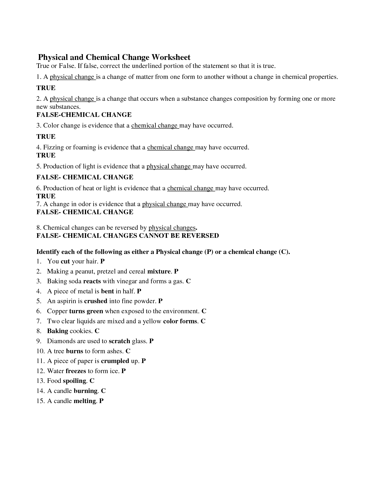 15 Best Images Of Physical Properties Of Matter Worksheet