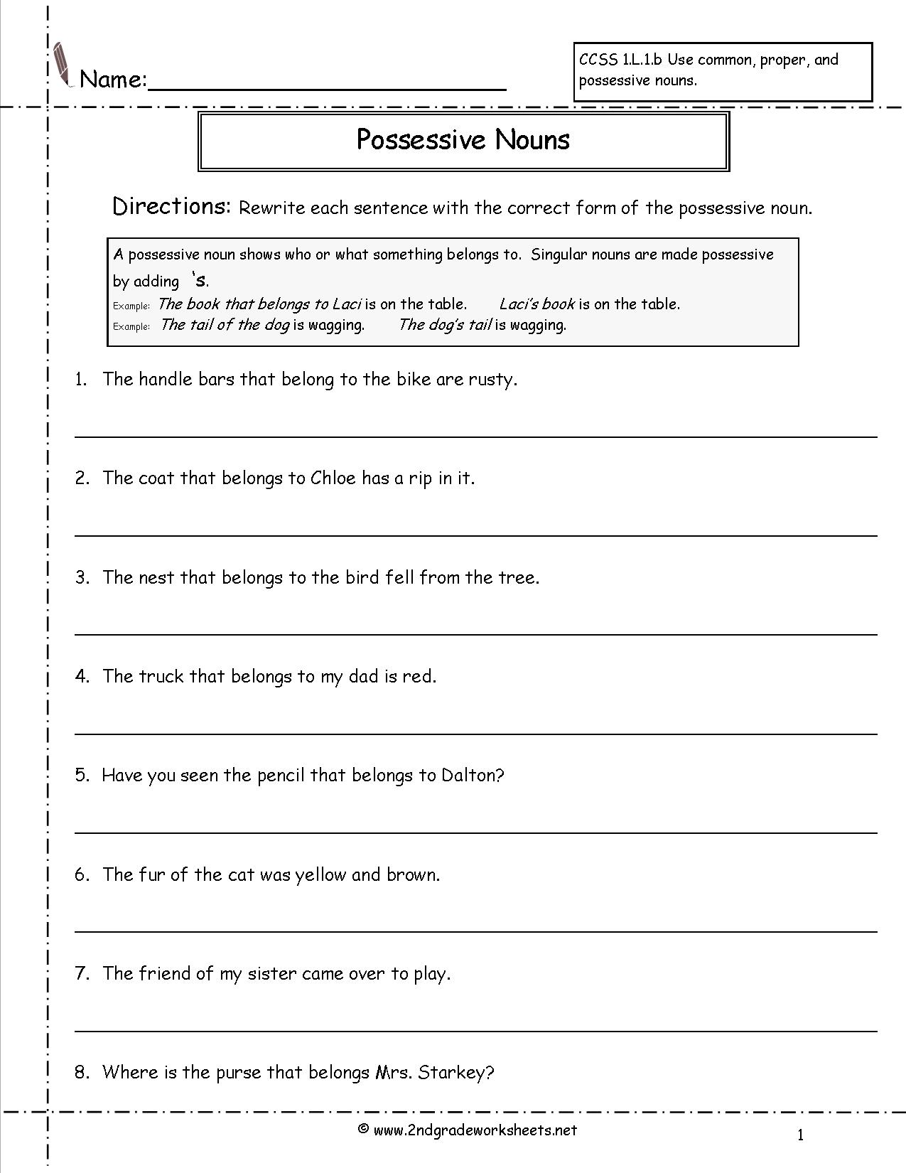 15 Best Images Of Printable Pronoun Worksheets 4th Grade