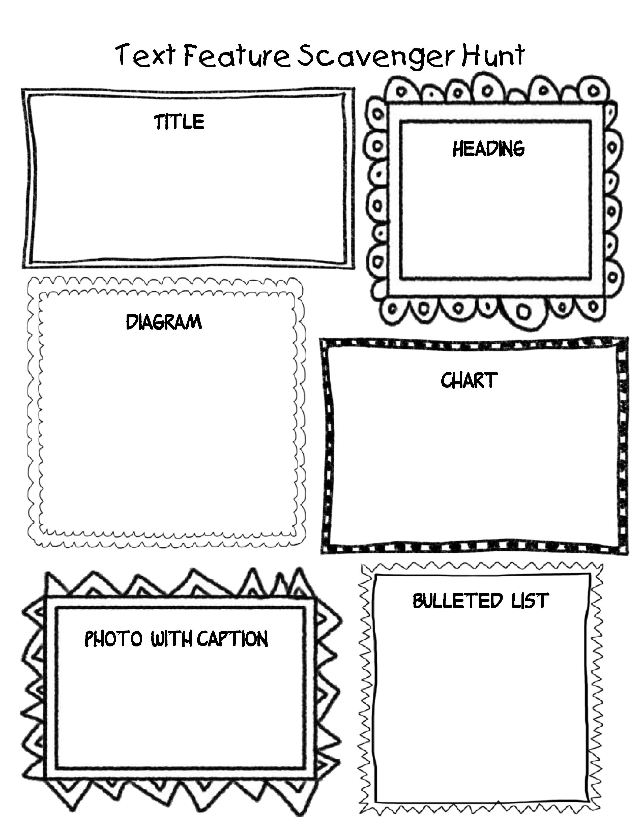 13 Best Images Of Text Features Worksheet