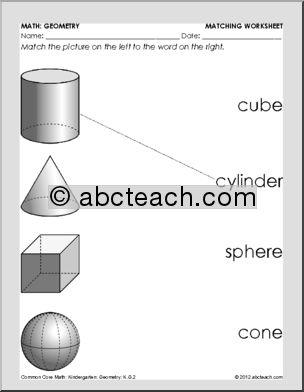 13 Best Images Of Cone Shape Worksheet Kindergarten