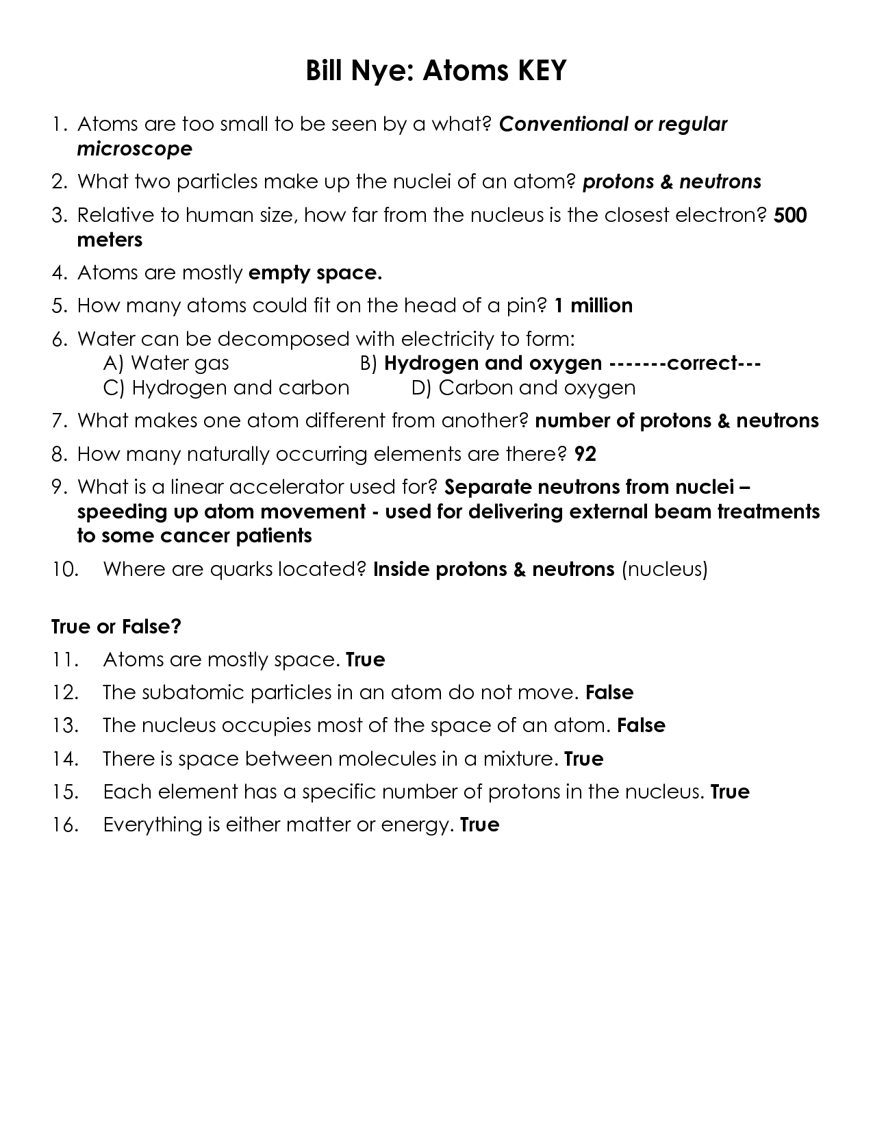 Bill Nye The Science Guy Erosion Worksheet