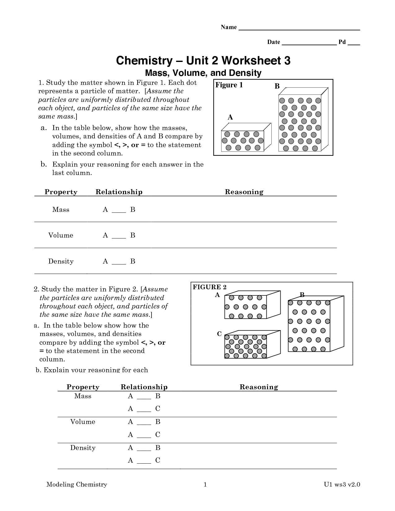Chemistry Unit 11 Worksheet 3