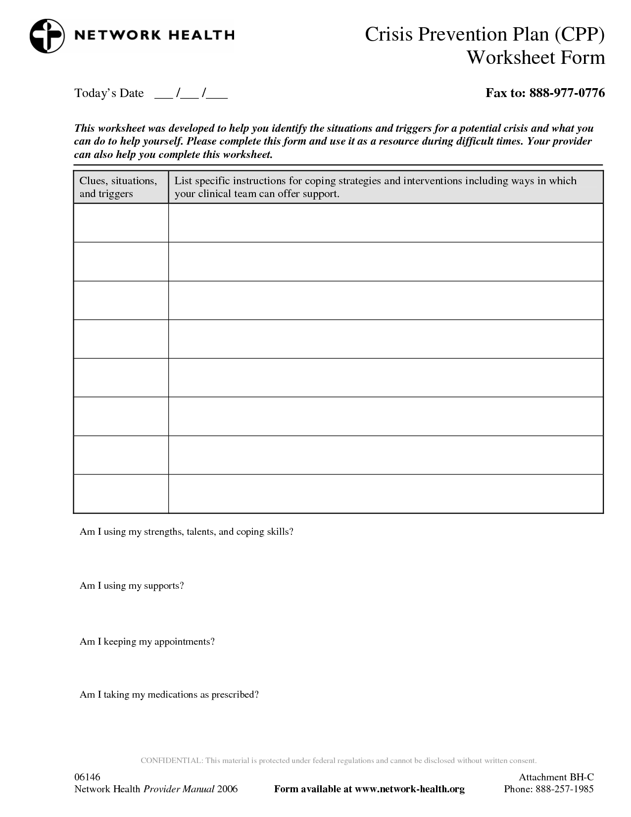 18 Best Images Of My Relapse Prevention Plan Worksheet