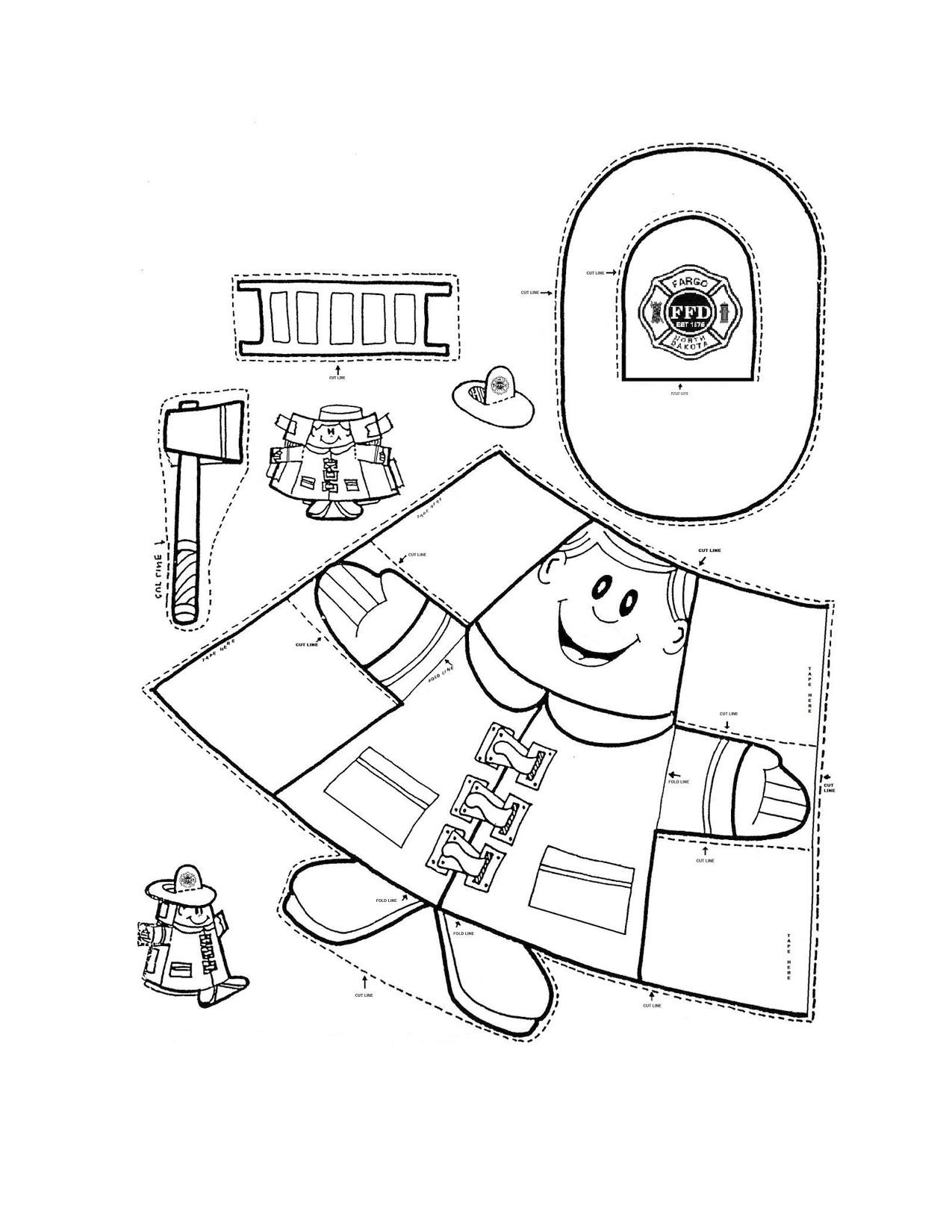 Public Safety Worksheet For Kindergarten
