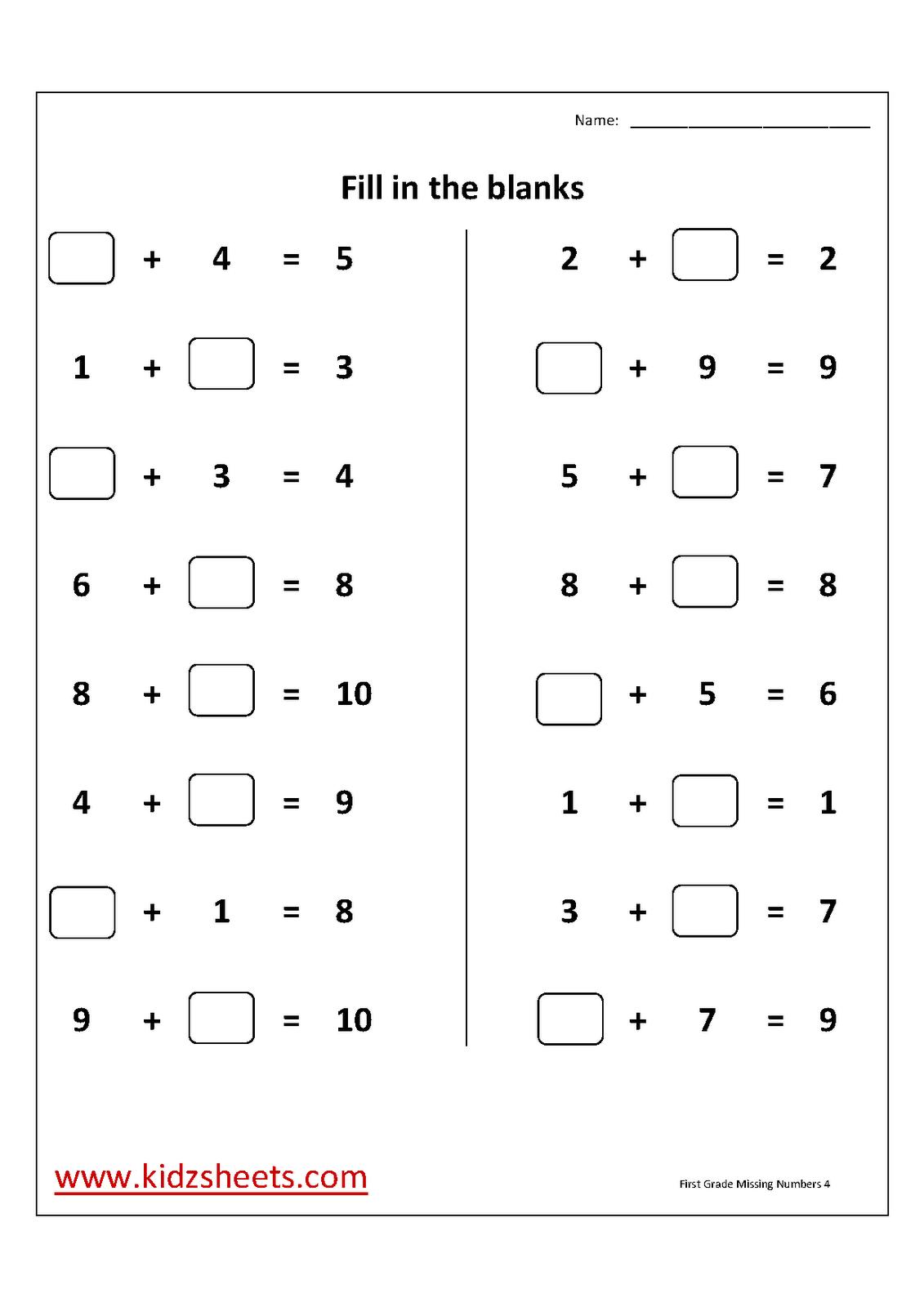 13 Best Images Of Worksheets For 1st Graders