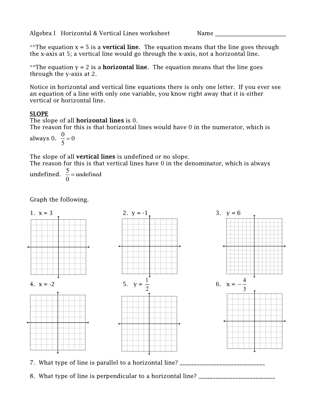 Straigh Lines Worksheet Vertical