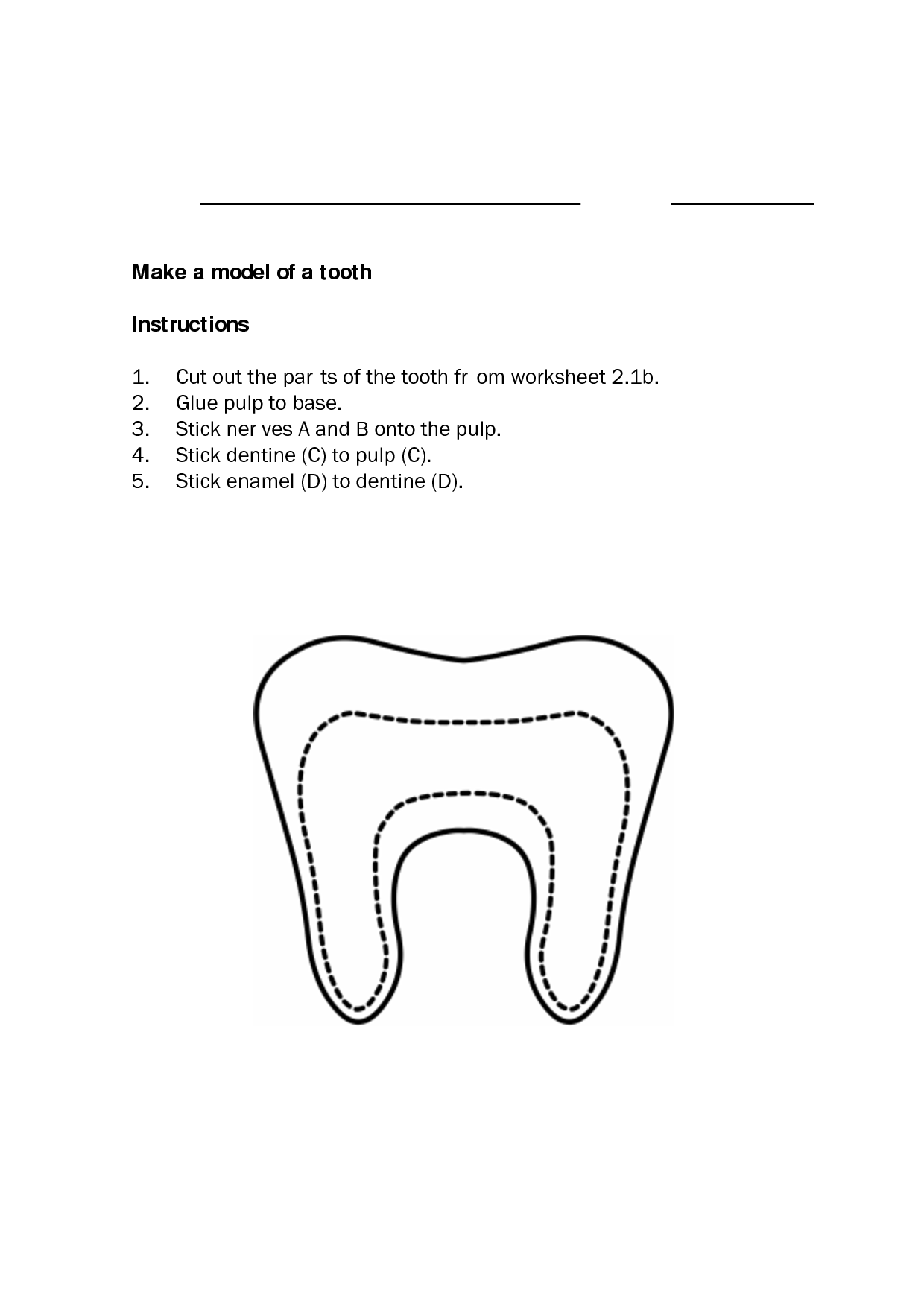 12 Best Images Of Tooth Worksheets For First Grade