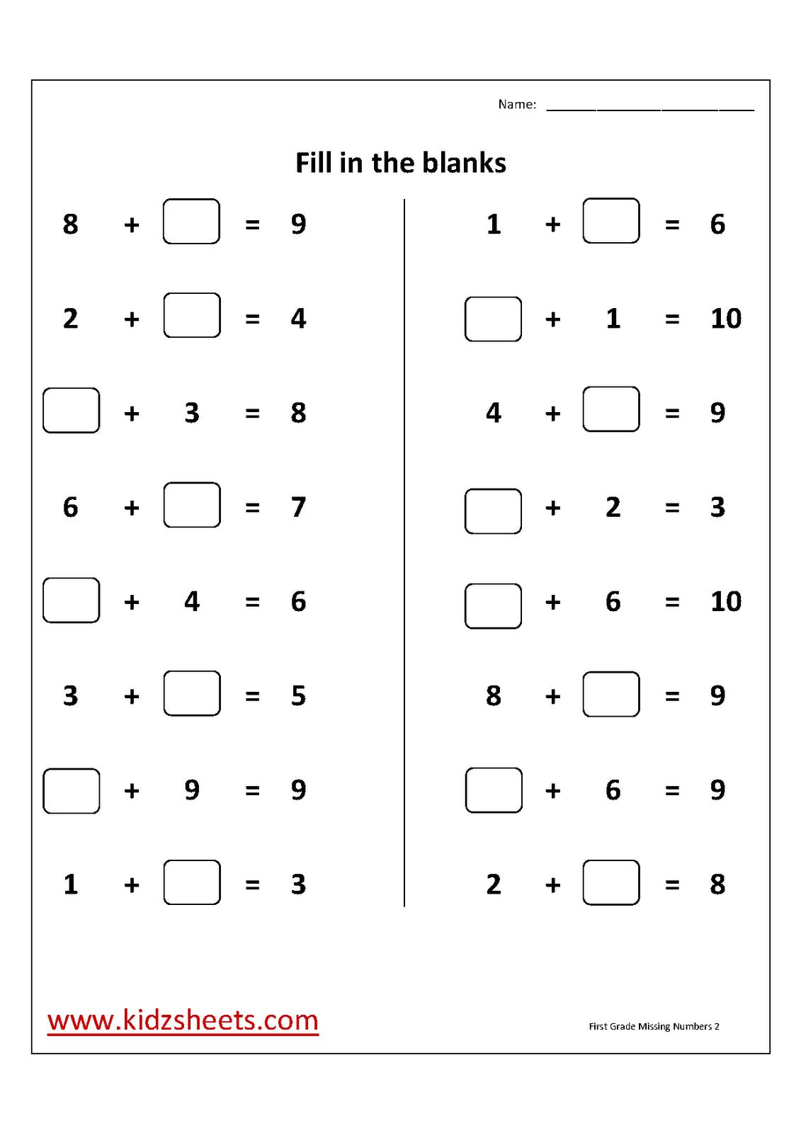17 Best Images Of Free Missing Number Kindergarten