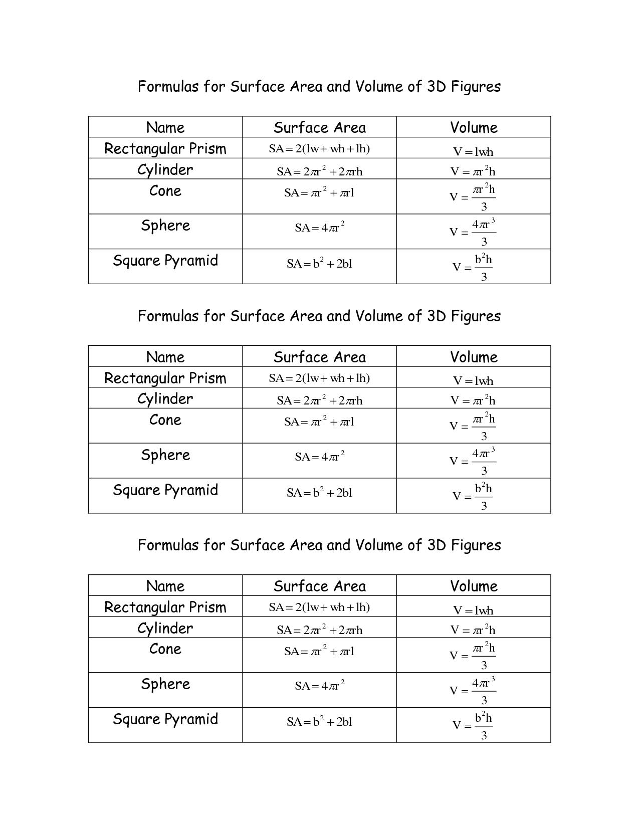 5 Best Images Of Sphere Problems Worksheet