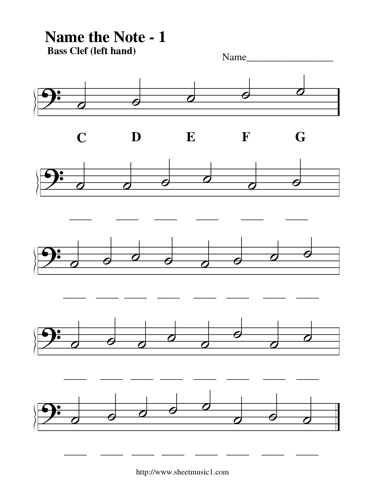15 Best Images Of Bass And Treble Clef Notes Worksheet