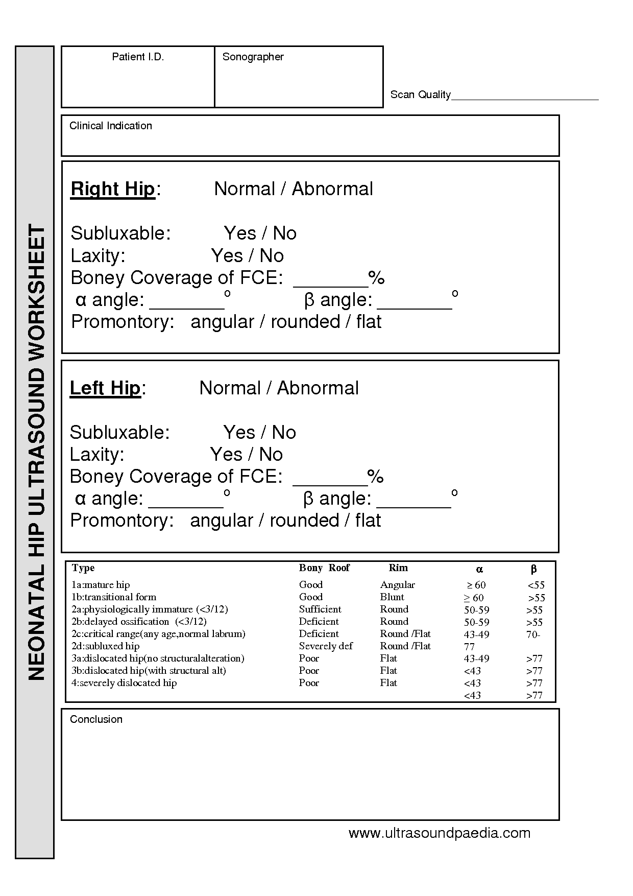 Abdominal Ultrasound Worksheet
