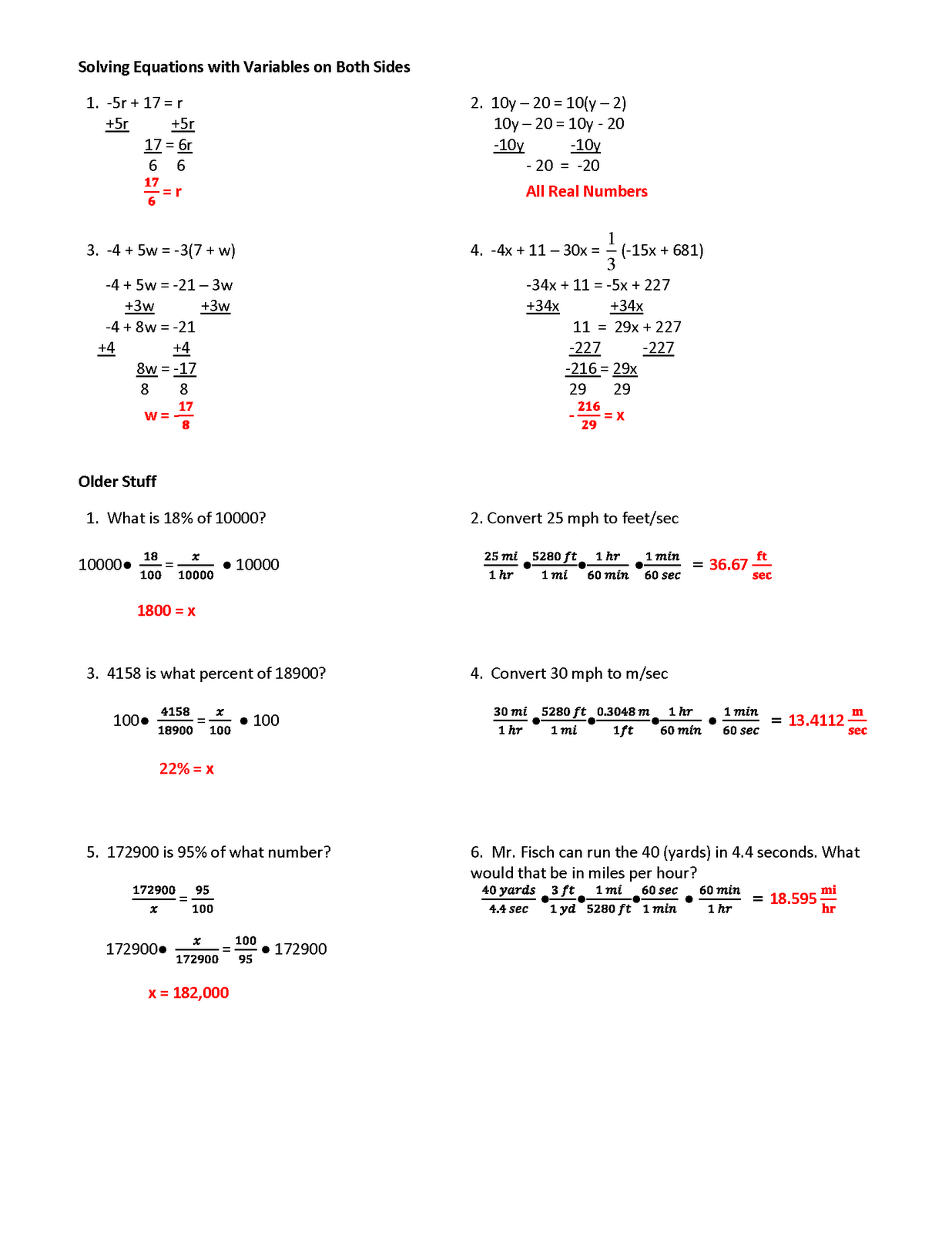 Writing Linear Equations Worksheet Gina Wilson