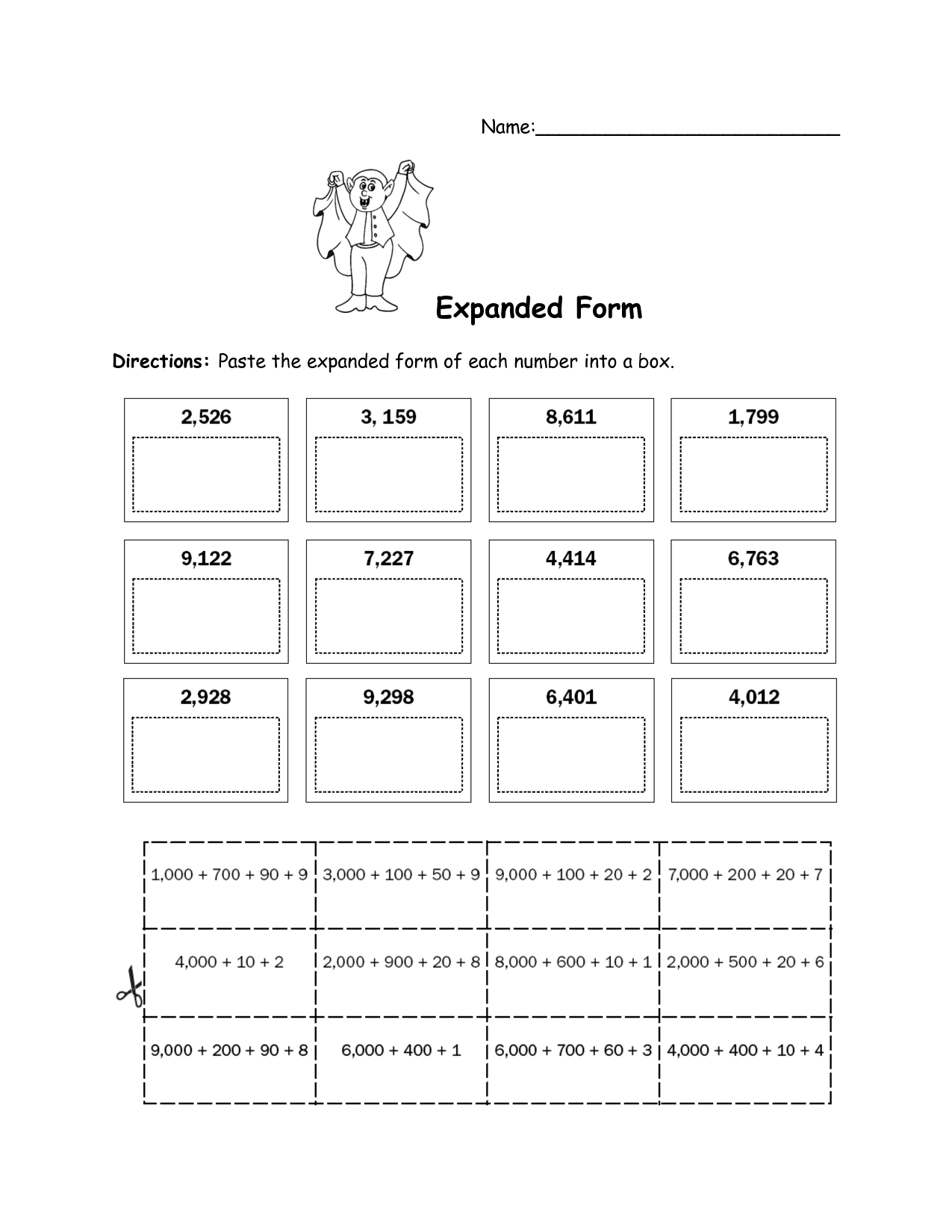 Worksheet Expanded Form