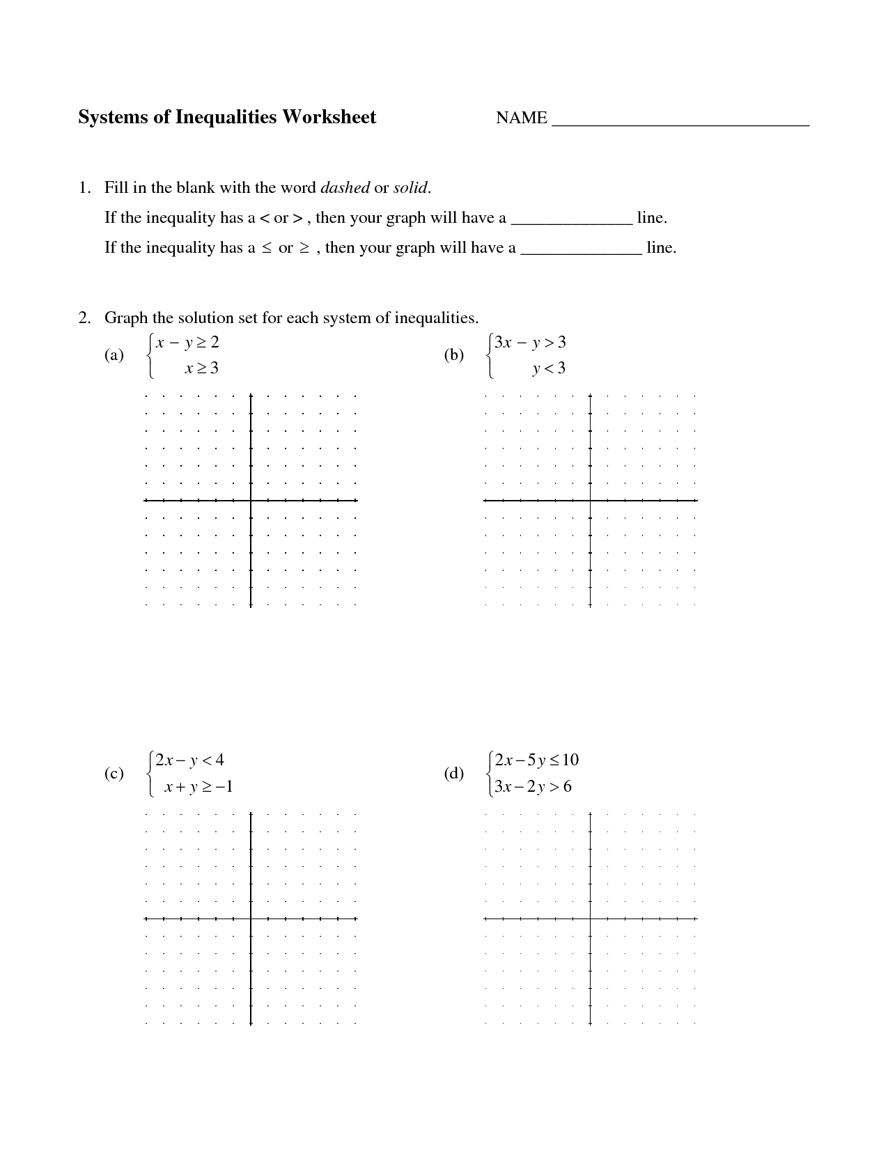 10 Best Images Of Graphing Systems Of Equations Worksheet