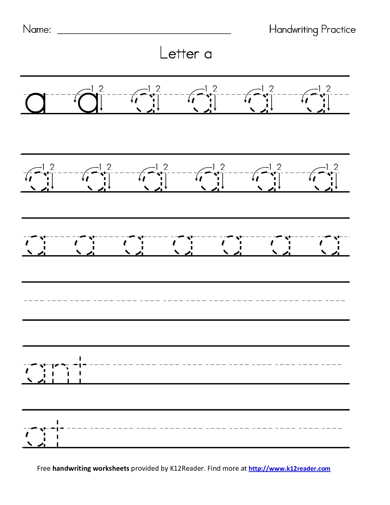 Lowercase Worksheet Kindergarten