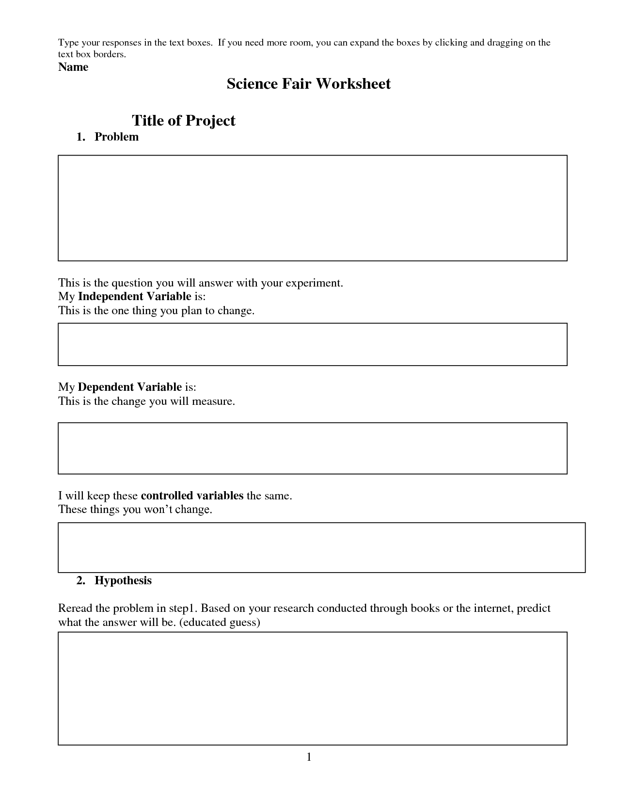 18 Best Images Of Best Science Worksheets