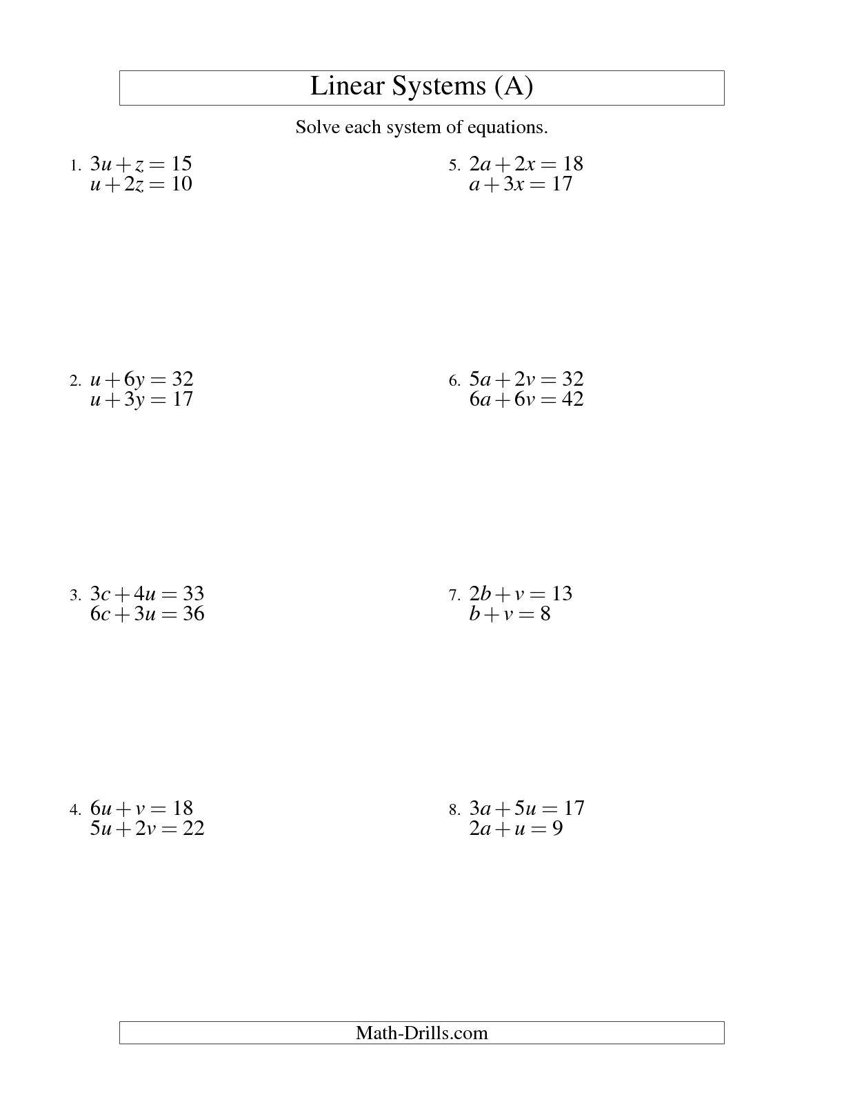 13 Best Images Of Algebra Solving For Variables Worksheets