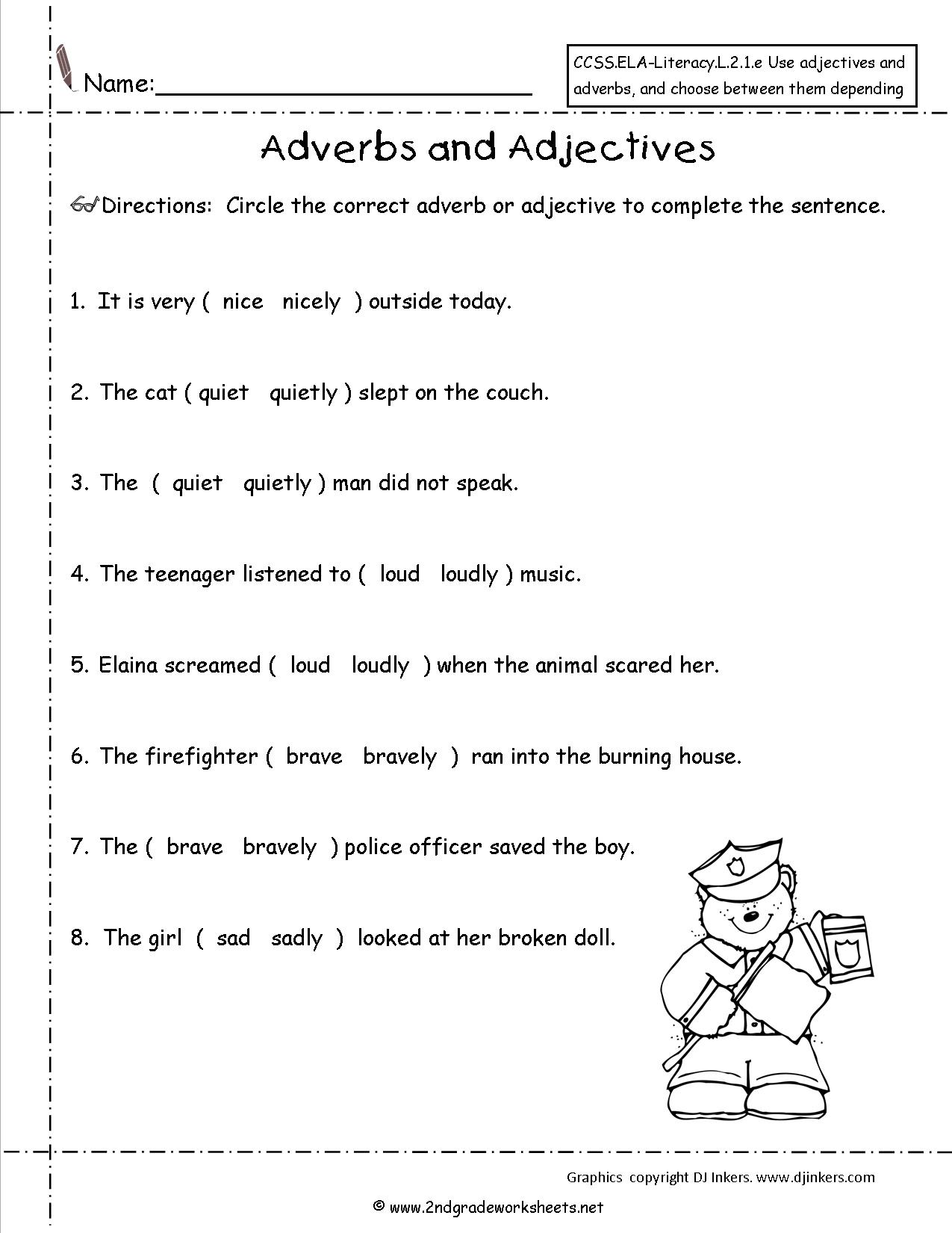 4th Grade Adverbs Worksheet