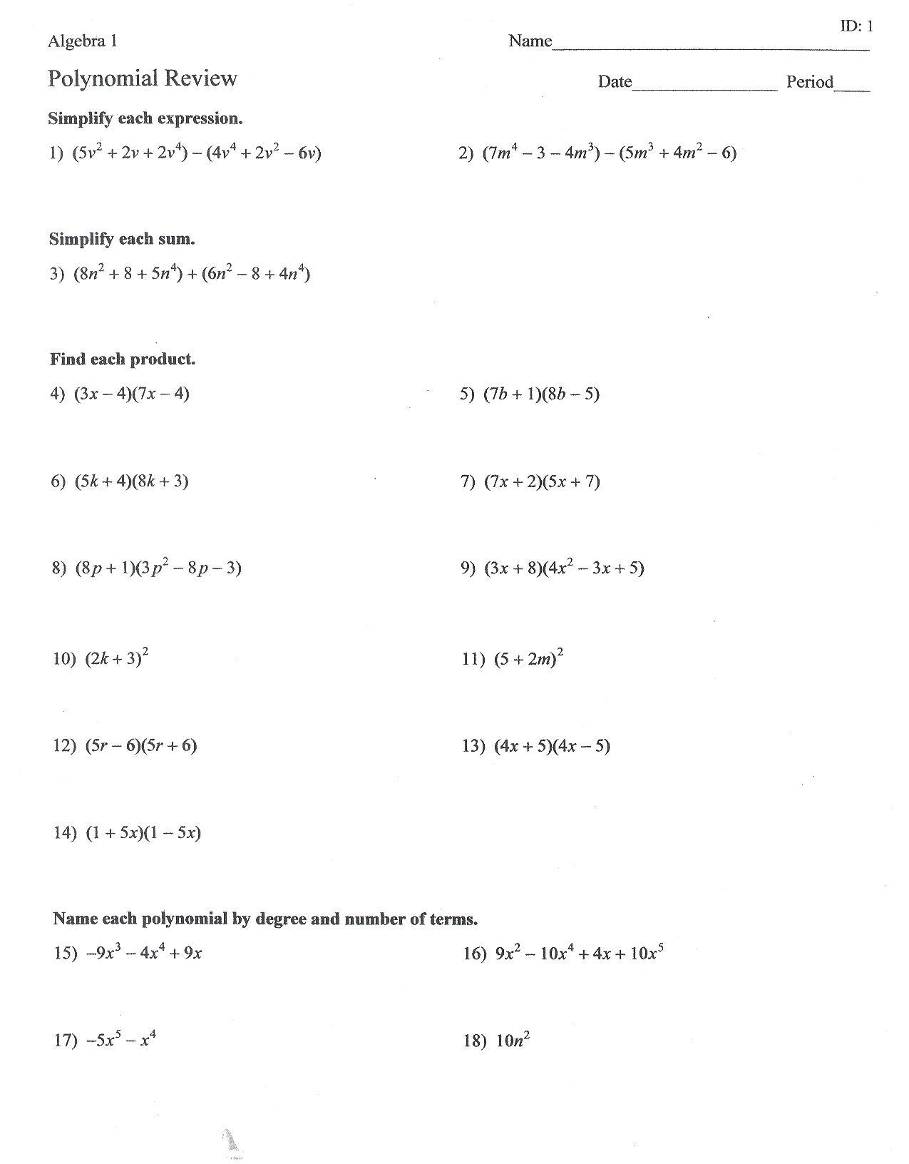 17 Best Images Of Factoring Trinomials And Binomials
