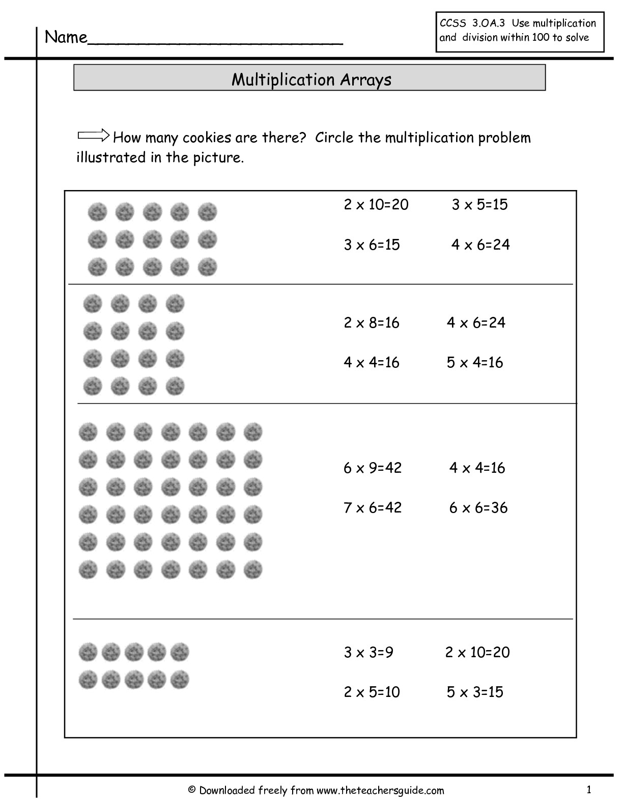 16 Best Images Of Multiplication Array Worksheets On Graph