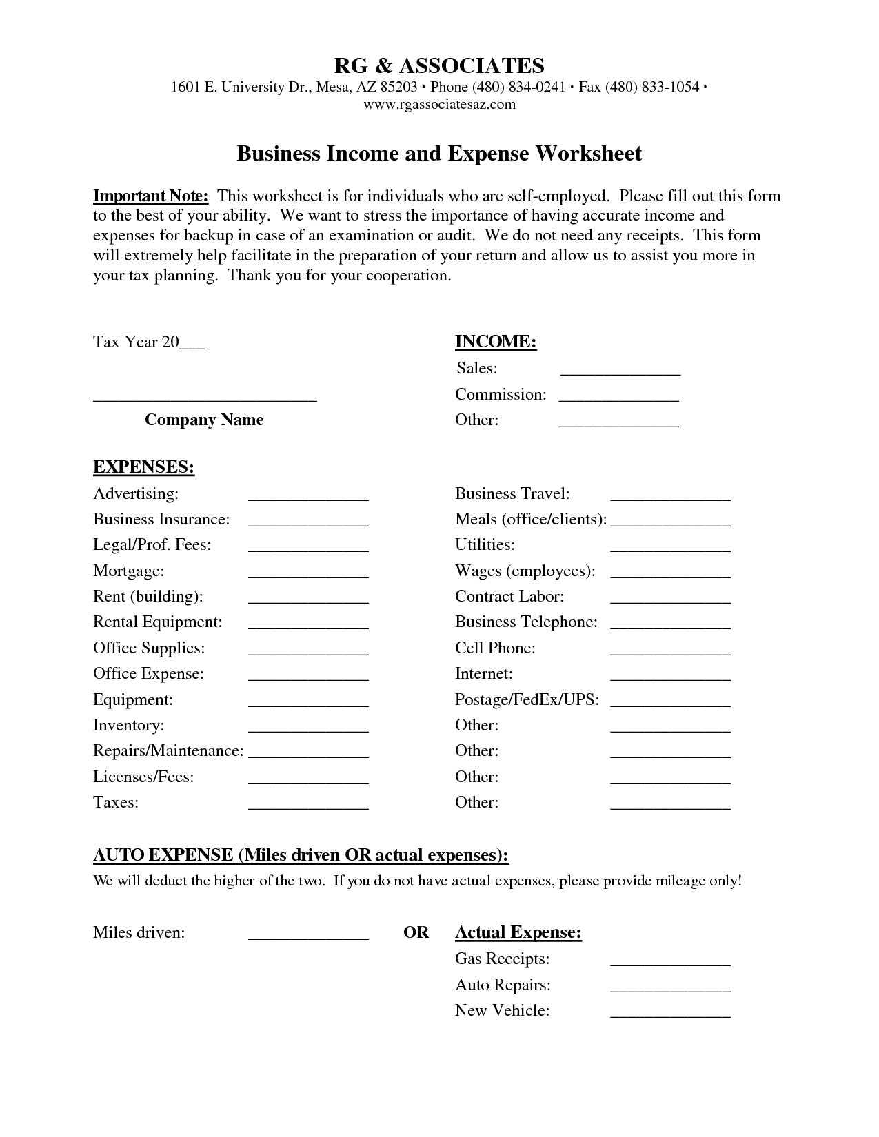 15 Best Images Of Household Expenses Worksheet
