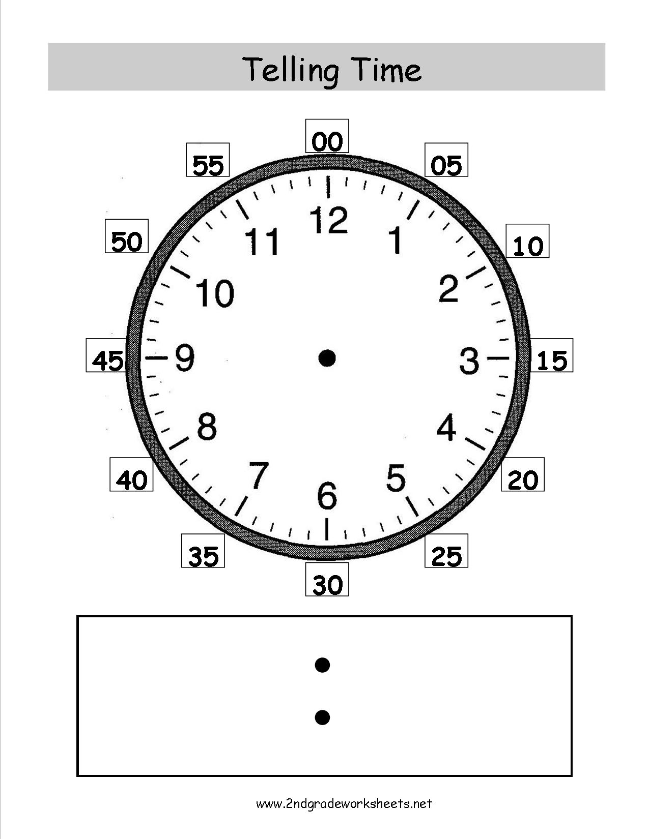 2nd Grade Telling Time Worksheet
