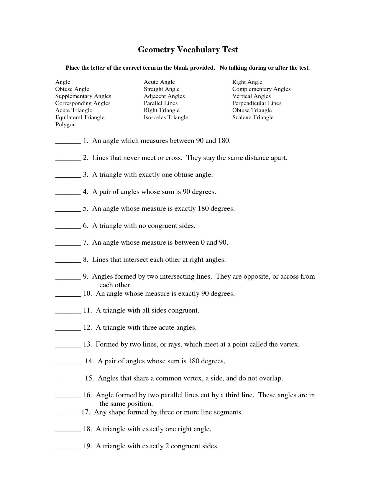 10 Best Images Of Cloze Vocabulary Word Worksheets